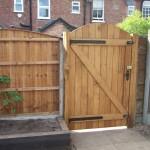 Garden oak gate