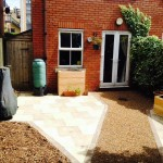 Raised Beds, Flag Stones & Gravel Path