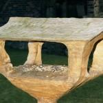 Elm bird table