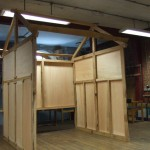 Timber frame house display structure