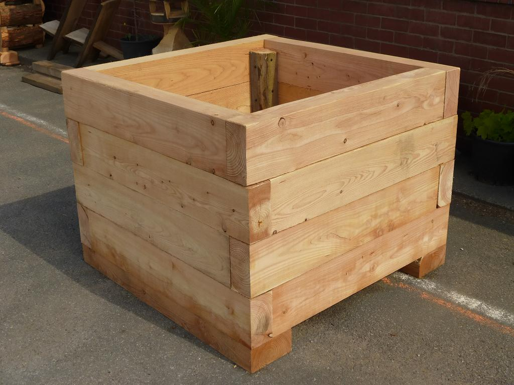 Tree planter made using locally sourced wood treestation for Wooden garden planter designs
